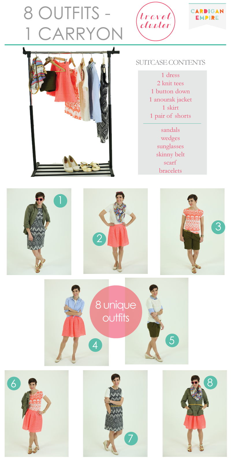 a80d4ad6f99 Vacation Special  How to Pack 8 Outfits in 1 Carryon