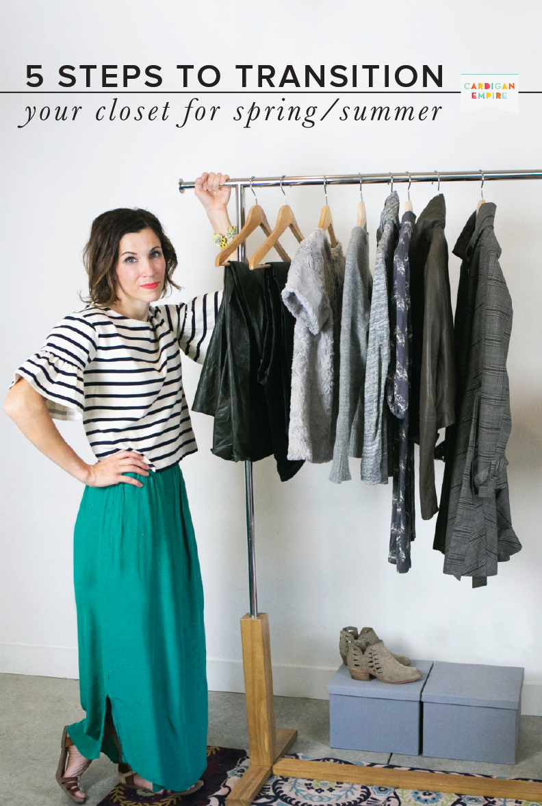 8545e4930 5 Steps to Transition your Closet from Winter to Spring