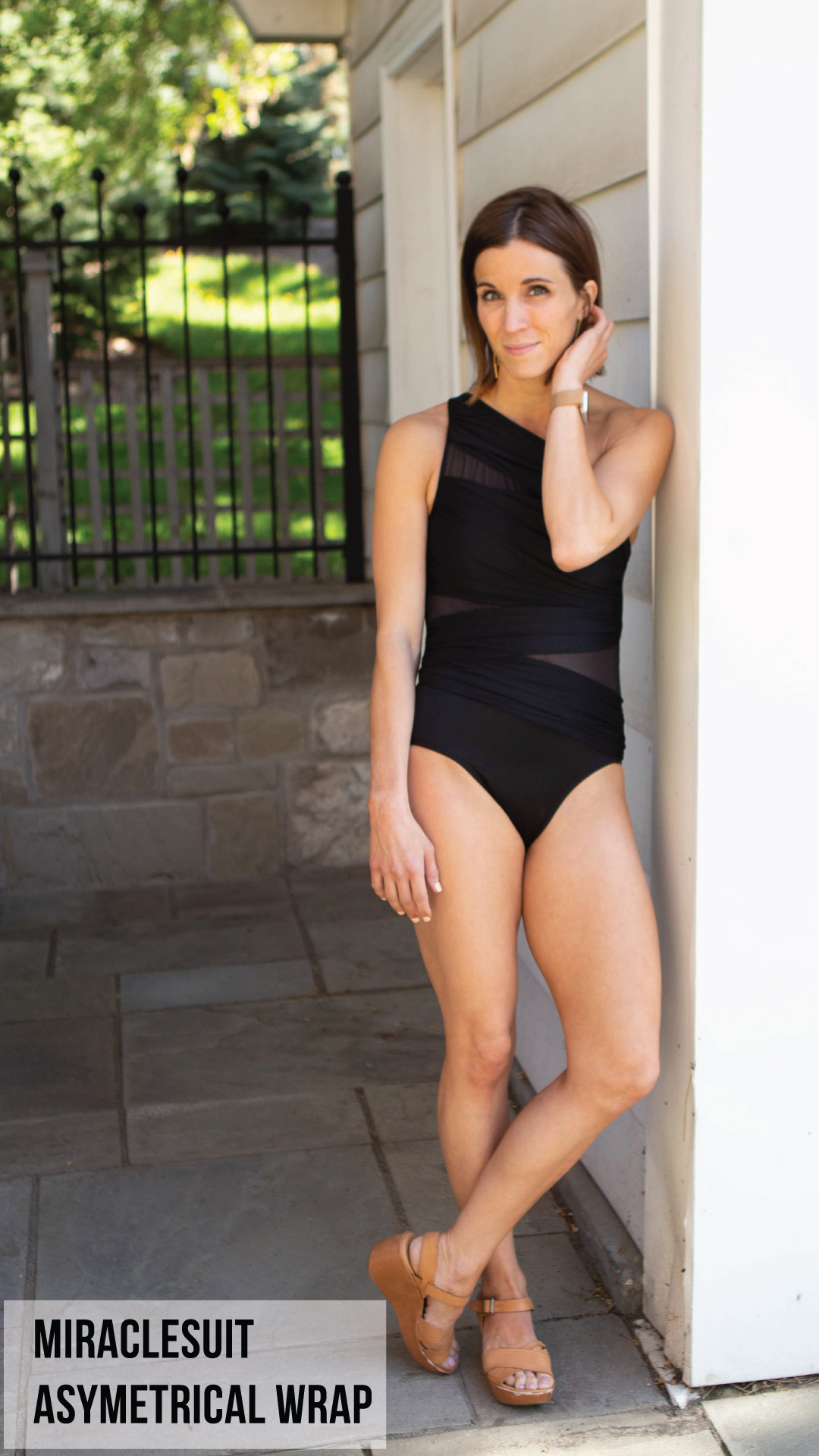 Runtlly Asymmetrical Wrap One-Piece Swimsuit
