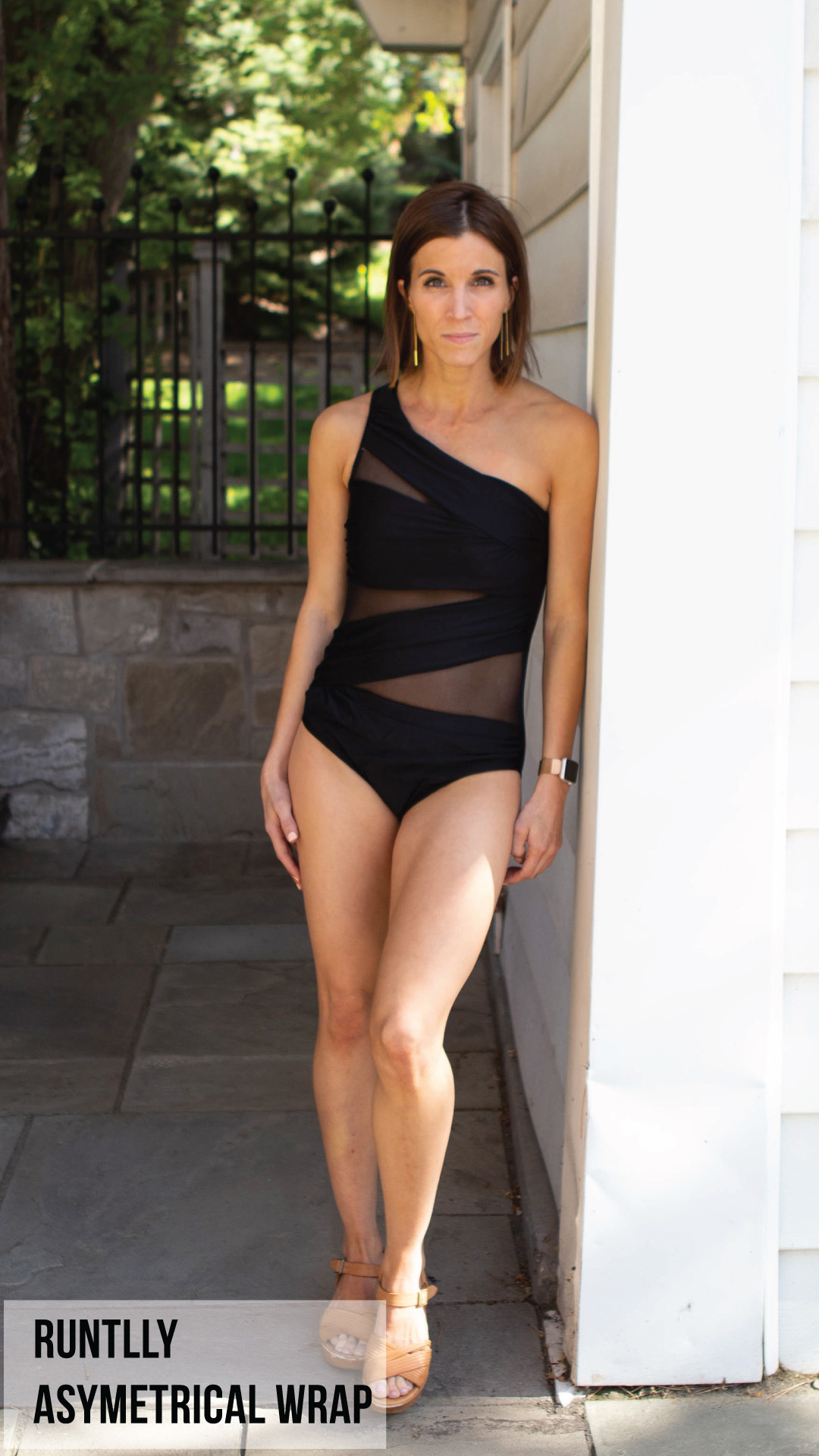 Runtlly Asymetrical Wrap One-Piece Swimsuit
