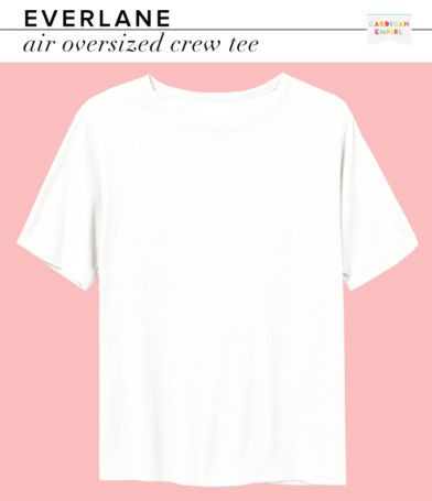 Everlane Air Oversized Crew White Tee