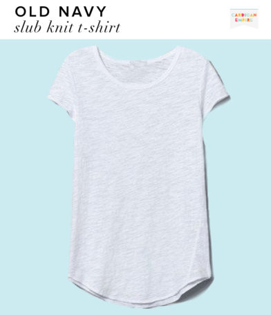 Old Navy White Slub Knit T-Shirt