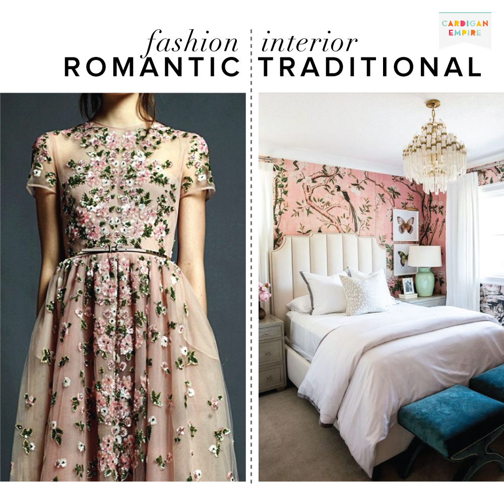 Fashion vs. Interior: Romantic & European Traditional